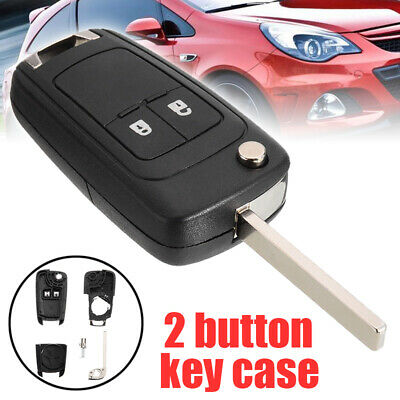 2 Button Flip Remote Key Fob Case Shell Fit for Opel Vauxhall Astra Insignia