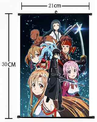 Hot Anime Sword Art Online Wall Poster Scroll Home Decor Cosplay 793