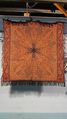 Antique Dutch Arts & Crafts Paisley Shawl Or Bietkleed 2