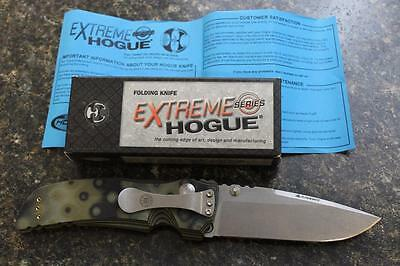"""NEW Hogue 34158 EX-01 Extreme Series 4"""" Drop Point Folding Knife Green G10"""