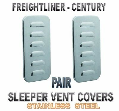 Sleeper Vent Door Covers (Louvered) f/ Freightliner Century Classic (PAIR)
