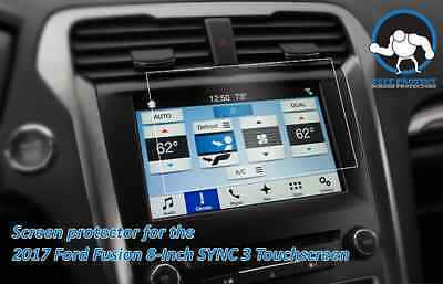 """Clear Screen Tuff Protect Protectors for 2017 Ford Fusion 8"""" SYNC 3 (2pcs)"""