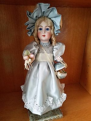 Antique Reproduction Mechanical Jumeau Triste Brigitte Porcelain Doll