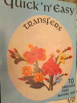 Quick 'N' Easy Transfers Book-Iron-On Transfers-Butterflies/Flowers/State Flower