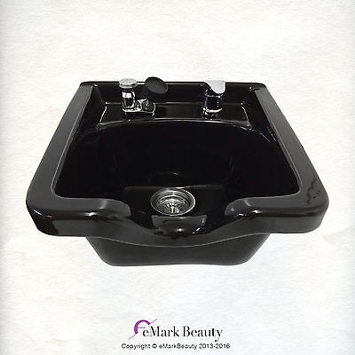 Black Square CERAMIC Wall Mounted Beauty Salon Shampoo Bowl TLC-B41W