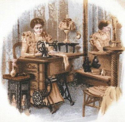Vignette Patch tissu thermocollant Couturière Iron-on patch Sewing Sepia
