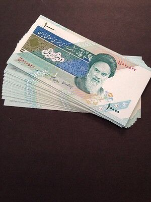 20 x 10000 (10,000) Rials Banknotes-Uncirculated currency