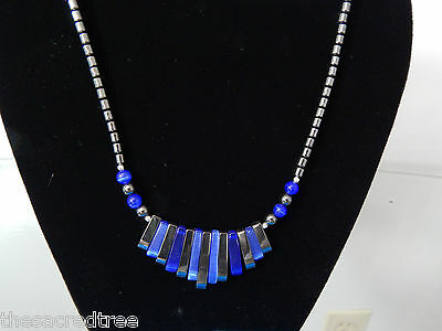 Hematite Non-Magnetic & Bead Piano Grounding Necklace 18 in