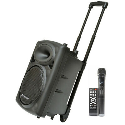 Fenton FPS10 Portable PA Karaoke Bluetooth Speaker System Headset Radio Mic 150W
