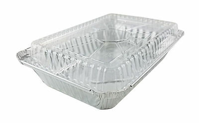 Handi-Foil 2 lb. Oblong Aluminum Take-Out Food Storage Container w/Dome Lid
