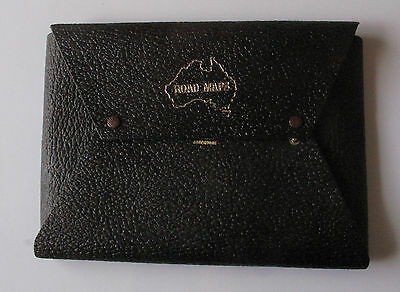 Vintage Australian Road Maps Large Leather Wallet - Free Postage