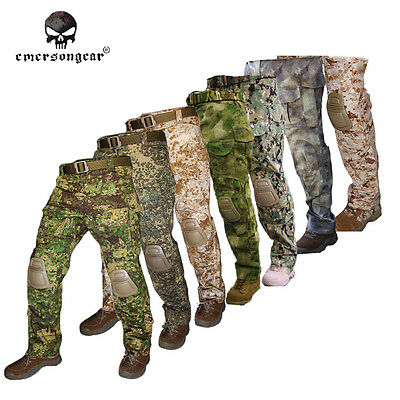 Emerson G3 Combat Pants with Knee Pad Military Airsoft Hunting Tactical Trousers