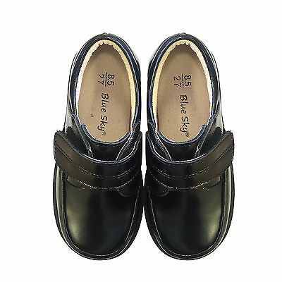 NEW KIDS Boys Formal Leather Shoes Pageboy School shoes SZ 8.5-12 in Black