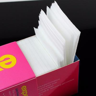 325pcs/pack Soft Nail Polish Remover Clean Wipe Wipes Cotton White Lint Free Art