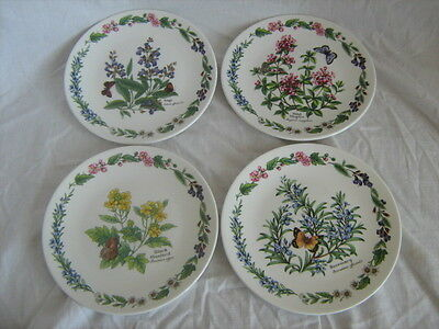 Set of 4 limited edition Royal Worcester Herbs decorative plates