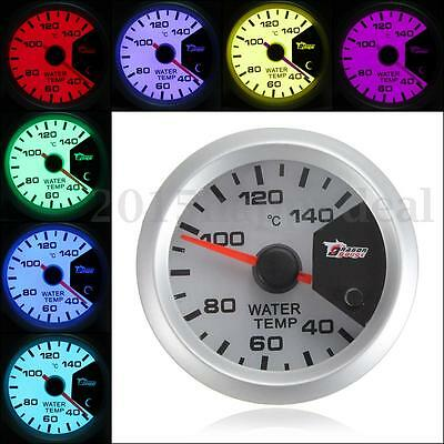 "7 colors Motor Shift 2"" 52mm LED Thermometer Water Temperature Temp Meter Gauge"
