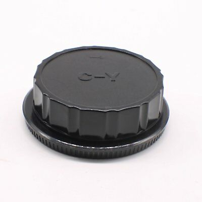 Camera Body Cover + Lens Rear Cap For Contax Yashica C/Y CY mount