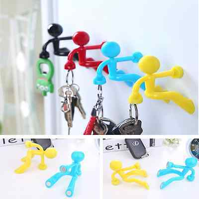 5 Colors Magnetic Cartoon Man Magnet Hook Keychain Sticker Fridge Magnet