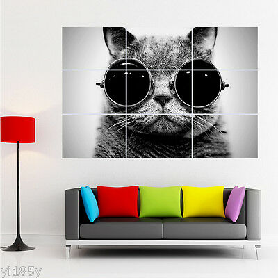 Steampunk Black Cat Poster Giant Large Print WALL Art
