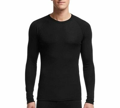 Icebreaker Everyday Long Sleeve Crewe Men Funktionsshirt Langarmshirt schwarz