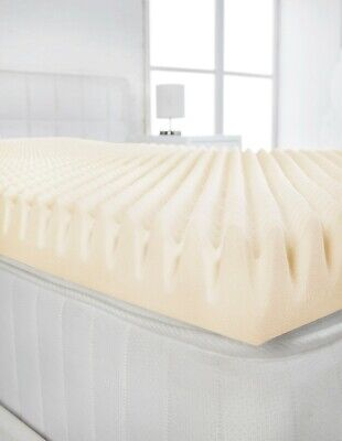 """2"""" 4ft Small Double Bed Size Memory Foam Mattress Topper (Profile / Egg Shell)"""