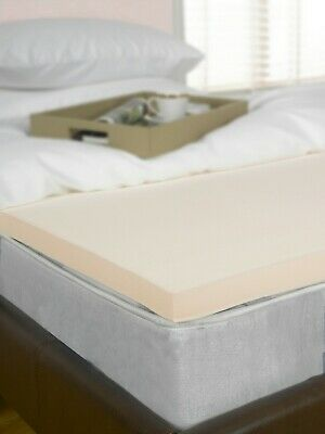 """2"""" 4ft Small Double Bed Size Memory Foam Mattress Topper, Visco, Orthopaedic 5cm"""