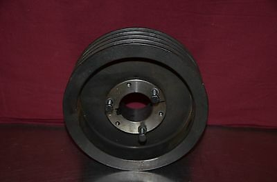 """Dodge 4 Groove V-Belt 8.875"""" Pulley Sheave with 2 1/8"""" Bushing"""