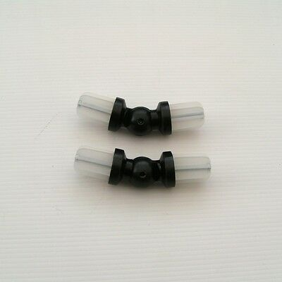2 x 19mm Black Bay Window Curtain Pole Elbow Corner Joint Connector