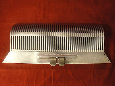 Vintage Accordion Part - Grill, 2 Switches, Steel with Navy Blue Mesh