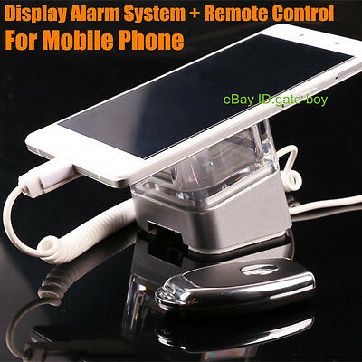 2x Cell Mobile Phone Security Display Alarm System Holder + 1x Remote Controller