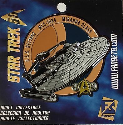 Star Trek USS Reliant Licensed FanSets MicroFleet Collector's Pin