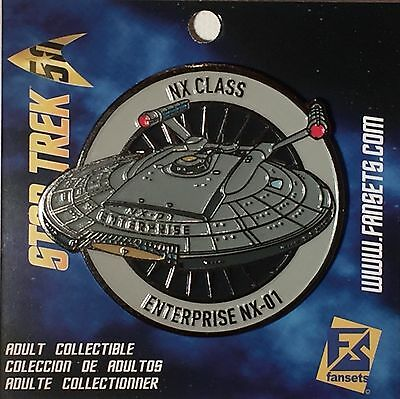 Star Trek Enterprise - NX-01 Licensed FanSets MicroFleet Collector's Pin