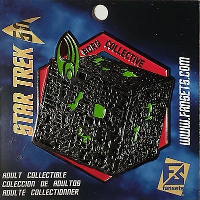 Star Trek Borg Cube Licensed FanSets MicroFleet Collector's Pin