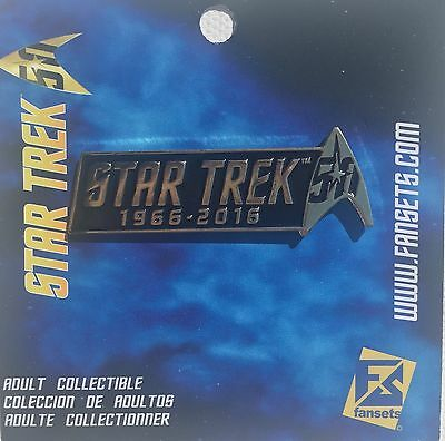 Star Trek 50th Anniversary Pin Licensed FanSets Collector's Pin