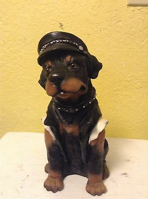 Antique Dog Rottweiler With Hat Figurine