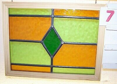 Leaded English stained glass window