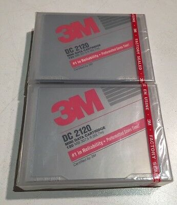 2 New in Package Vintage 3M DC 2120 Mini Data Cartridge 120 MB