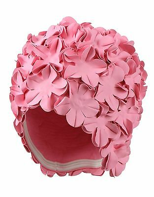 Pink Petal Swimming Hat Ladies Swimming Hat Old Fashioned Style Bathing Cap