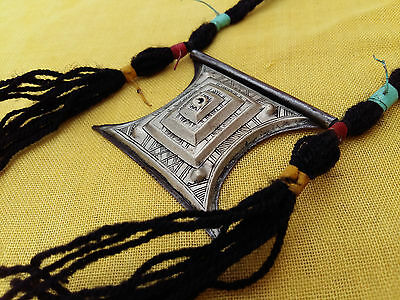 Vintage Handmade African Tuareg Tsherot Necklace Ethnic Jewelry Silver Hippy