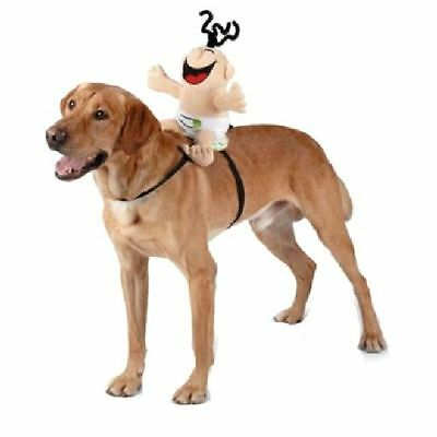 Giggling Baby Halloween Dog Pet Rider Costume Medium (New with Tags)