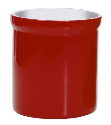 New Ceramic Kitchen Tool Crock Multipurpose Utensil Holder or Wine Bucket Red