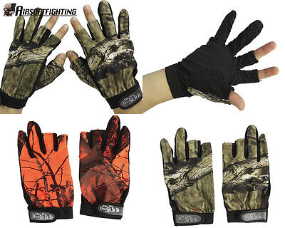 Outdoor Camouflage Anti-slip Gloves 3 Cut Fingers Fishing Waterproof Gloves