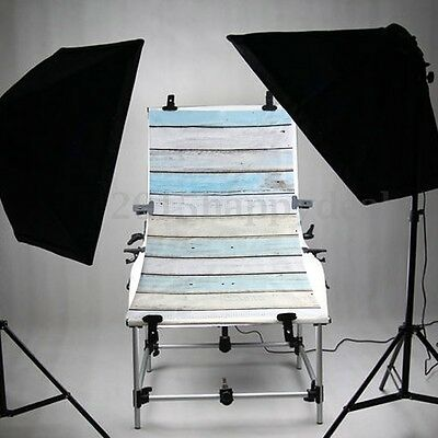 Retro Blue Wooden Wall Floor Studio Photography Backdrops Photo Background 3x5ft