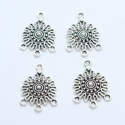30/150pcs Tibetan Silver Necklace Connectors Bails Charms for Jewelry Findings