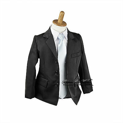 NEW Boys Baby Formal Suit BLACK Jacket Only sz 00-16 Standard/Loose Fit