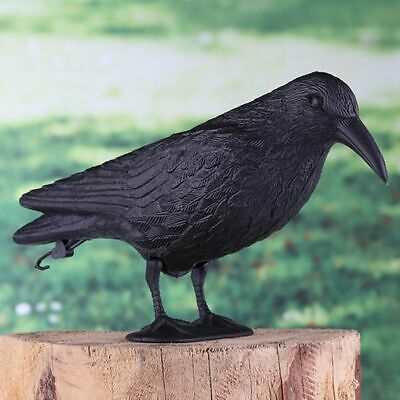 Garden Decoration Garden Ornament Pigeon deterrent Ornament Raven with hanger