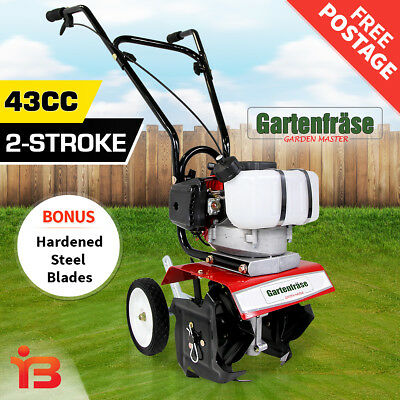 NEW Tiller Garden Cultivator Rotary Hoe Tine Pro Machinery Plants Rototiller