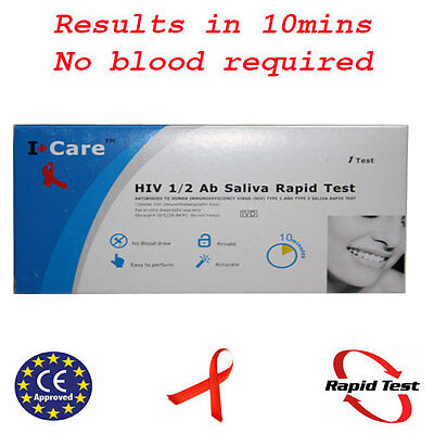 Saliva AIDS Home Test Kit HIV 1&2 STD Infection diagnosis blood CE Approved
