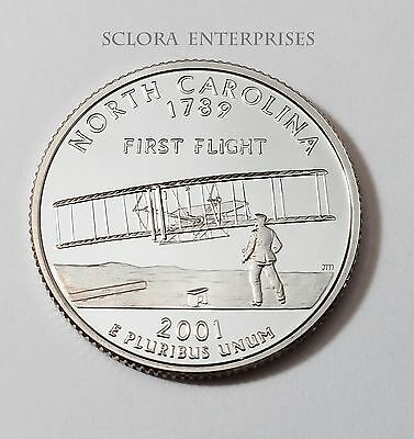 2001 S North Carolina *proof* State Quarter   **free Shipping**