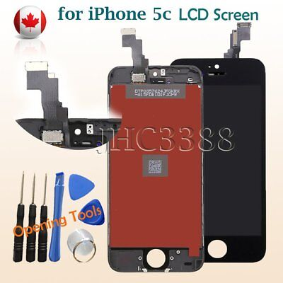 For Black Apple iPhone 5c LCD Display + Touch Screen Digitizer Assembly + Tools